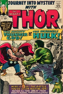 Journey Into Mystery #112 (Marvel, 1965): Retelling of Hulk vs. Thor Battle in Avengers #3; Loki Origin. Click for values