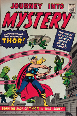 Origin and First Appearance, Thor, Journey Into Mystery #83, Marvel Comics, 1962. Click for value