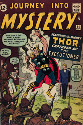 First appearance of Jane Foster, Journey into Mystery #84, which is the second appearance of Thor. Click to buy