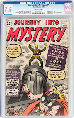 Journey into Mystery #85 is best collected in VF-. Prices don't change much between 6.0 and CGC 7.5. Click to find yours