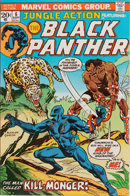 Jungle Action #6 (Marvel, 1973): First Appearance of Erik Killmonger. Click for values