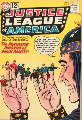 Origin and First Appearance, Felix Faust, Justice League of America #10, DC Comics, 1962. Click for value