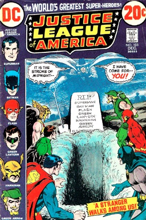 Justice League of America #103: Phantom Stranger joins the JLA