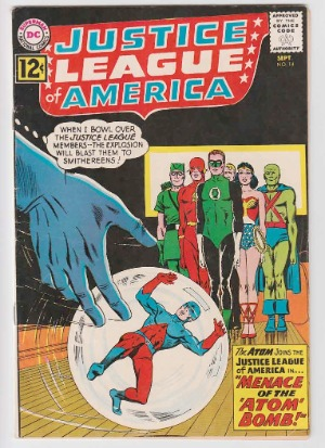 Justice League of America #14: Atom joins the JLA