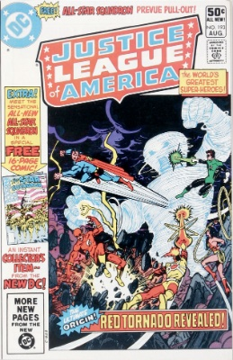 Origin and First Appearance, All Star Squadron, Justice League of America #193, DC Comics, 1981 / All-Star Squadron #1, DC Comics, 1981. Click for value