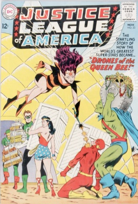 Origin and First Appearance, Queen Bee, Justice League of America #23, DC Comics, 1963. Click for value