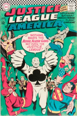 Origin and First Appearance, Royal Flush Gang, Justice League of America #43, DC Comics, 1966. Click for value