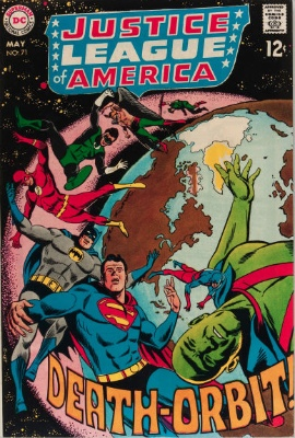 Justice League of America #71 (May, 1969): Martian Manhunter Leaves Earth. Click for value