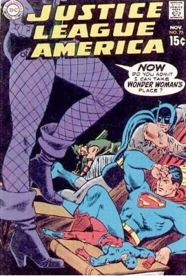 Justice League of America #75 (November 1969): Oliver Queen Loses His Fortune. Click for value