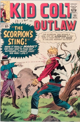 Scorpion (Kid Colt Outlaw #115 version). Click for values