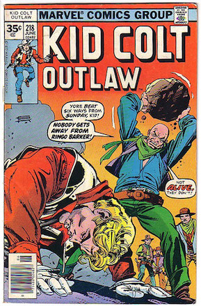 RARE! Kid Colt Outlaw #218 Marvel 35c Price Variant Edition