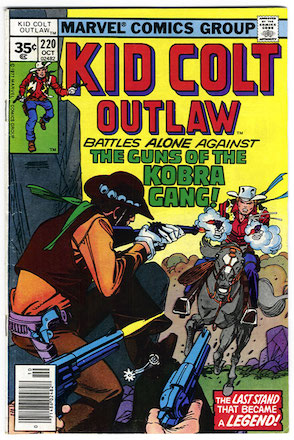RARE! Kid Colt Outlaw #220 Marvel 35c Price Variant Edition