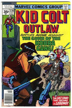 RARE! Kid Colt Outlaw #220 Marvel 35c Price Variant Edition