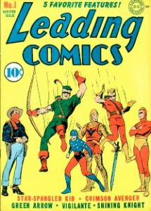 Leading Comics #1 Golden Age Green Arrow run