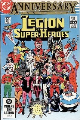 300th issue of the Legion of Superheroes with a collection of new stories. Click for values