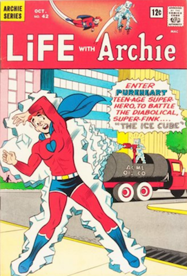 Life With Archie #42: First Appearance of Captain Purpleheart. Click for value