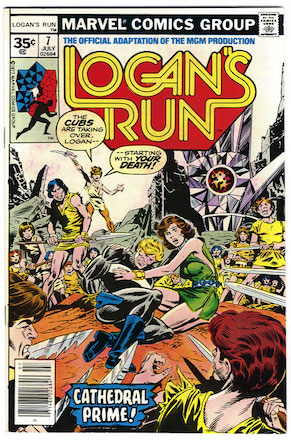 Logan's Run #7 Marvel 35 Cent Price Variant