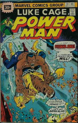 Power Man #31 30c Price Variant May, 1976. Price in Starburst
