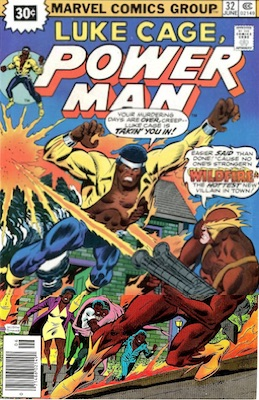 Power Man #32 30c Variant June, 1976. Price in Starburst