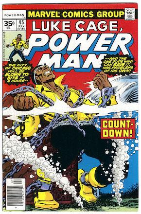 (Luke Cage) Power Man #45 Marvel 35 Cent Price Variant