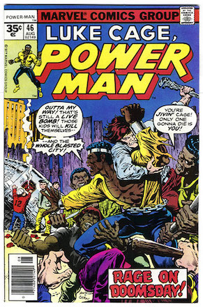 (Luke Cage) Power Man #46 Marvel 35 Cent Price Variant
