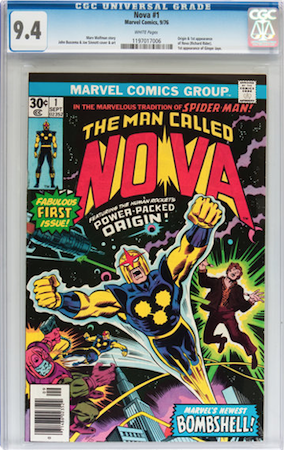 100 Hot Comics #46: Man Called Nova 1. We recommend CGC 9.4. Click to buy a copy