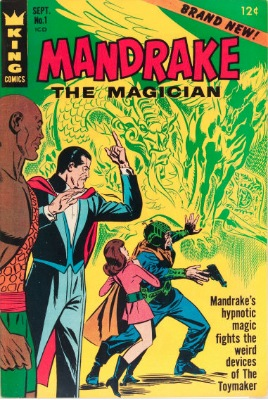 Origin and First Appearance, Mandrake the Magician, Mandrake the Magician #1, King Comics, 1965 / Mandrake the Magician #1, Marvel Comics, 1995. Click for value