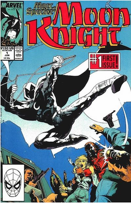 Marc Spector: Moon Knight #1 (1989). Click for values.