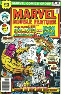Marvel Double Feature #16 Marvel 30 Cent Price Variant June, 1976. Starburst Flash