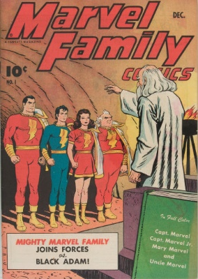 Origin and First Appearance, Black Adam, The Marvel Family #1, Fawcett Comics, 1945. Click for value
