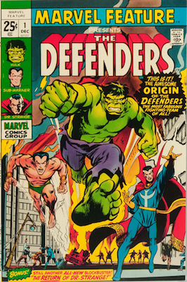 Hot Comics #41: Marvel Feature #1, 1st Defenders. Click to buy a copy