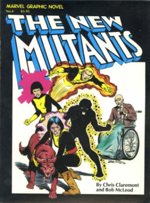 Marvel Graphic Novel #4: Origin and First Appearance of the New Mutants (Original Line-up: Cannonball, Psyche, Sunspot and Wolfsbane). Click for values