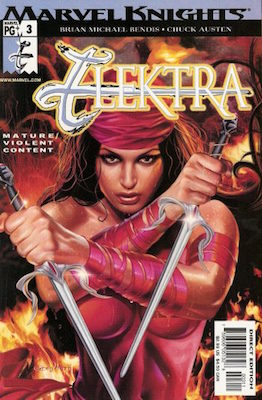 Elektra #3 (first print) (Marvel, 2001): Recalled issue. Lowest Print Run of Any Marvel Comic / Partial Nudity. Click for values