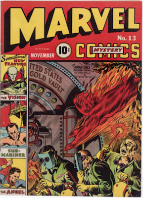 Marvel Mystery Comics #13: First appearance of Golden Age Vision. Click for values.