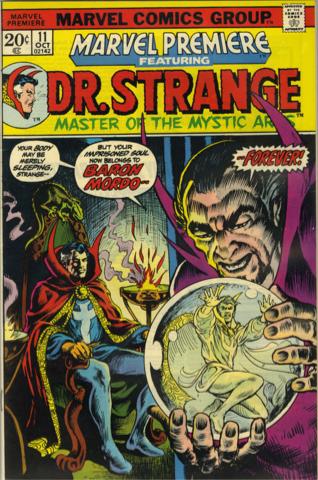 Marvel Premiere #11 (October, 1973) : Dr. Strange. Click for value