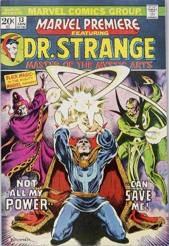 Marvel Premiere #13 (January, 1974) : Dr. Strange. Click for values