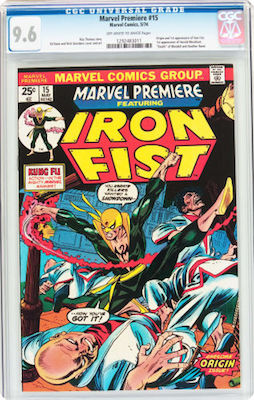 A clean copy of Marvel Premiere #15 in CGC 9.8 makes a fine investment in the 1st Iron Fist appearance. Click to buy
