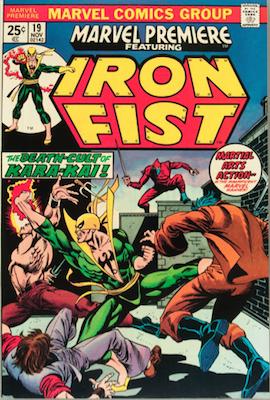 Marvel Premiere #19 (November, 1974): Iron Fist. Click for value