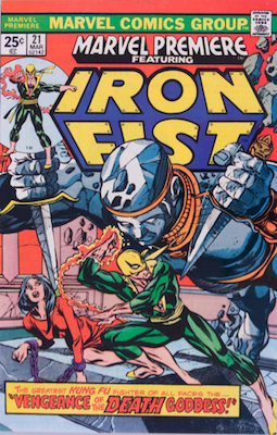 Marvel Premiere #21 (March, 1975): Iron Fist. Click for values