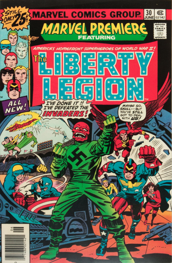 Marvel Premiere #30 (June, 1976): Liberty Legion. Click for values