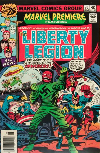 Marvel Premiere #30 (June, 1976): Liberty Legion. Click for values