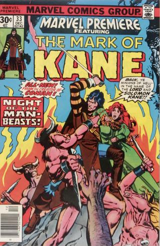 Marvel Premiere #33 (December, 1976): Solomon Kane. Click for value