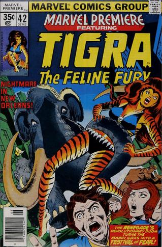 Marvel Premiere #42 (June, 1978): Tigra. Click for value