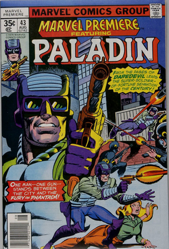 Marvel Premiere #43 (August, 1978): Paladin. Click for values