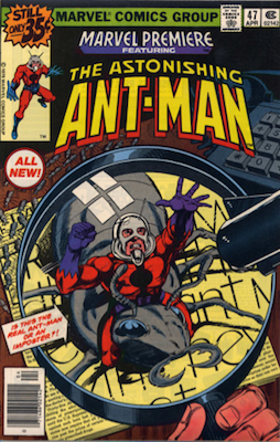 Scott Lang: Ant-Man and the Wasp. First Appearance: Marvel Premiere #47. Click for values