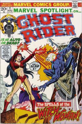 Marvel Spotlight #11, August, 1973: Ghost Rider. Click for value