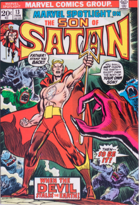 Marvel Spotlight #13, January, 1974: Son of Satan Origin. Click for value