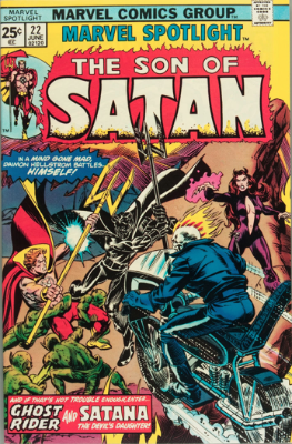 Marvel Spotlight #22, June, 1975: Son of Satan. Click for value