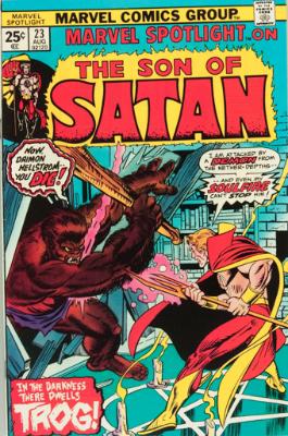 Marvel Spotlight #23, August, 1975: Son of Satan. Click for value