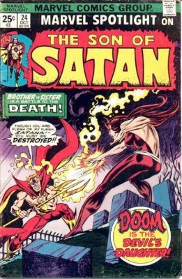 Marvel Spotlight #24, October, 1975: Son of Satan; Last Appearance in Title. Click for value